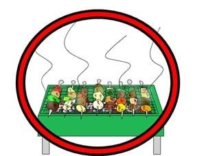 炭を使うバーベキューコンロは火気厳禁の場所でも許可が出る
