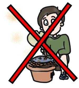 火気厳禁のお花見は七輪使用禁止