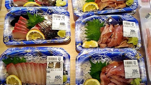 萩市しーまーとの魚介類のおみやげ萩市しーまーとのお刺身