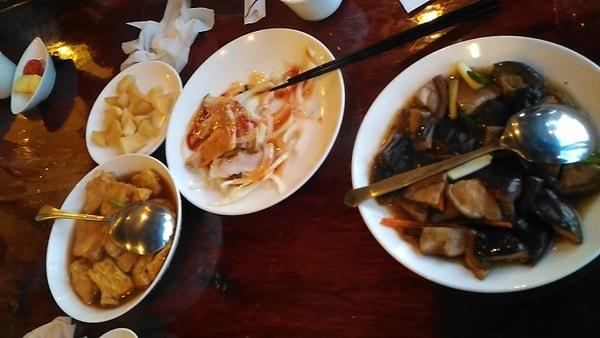 九份の海悦廊茶房の夕食