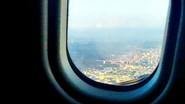 眼下に見える台北の街