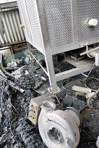 灯油窯の送風器も焼失