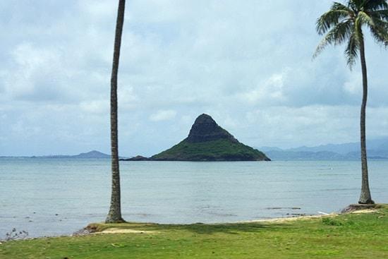 オアフ島ぐるっと一周ツアーのチャイナーズマンハット