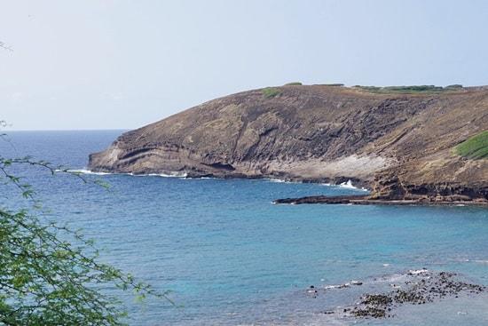 オアフ島ぐるっと一周ツアーの潮吹岩