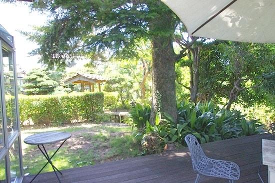 カフェギャラリー藍場川の家の庭