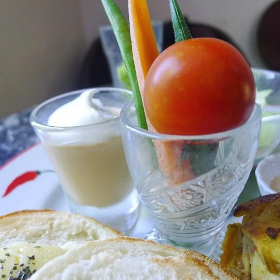 カフェギャラリー藍場川の家の野菜