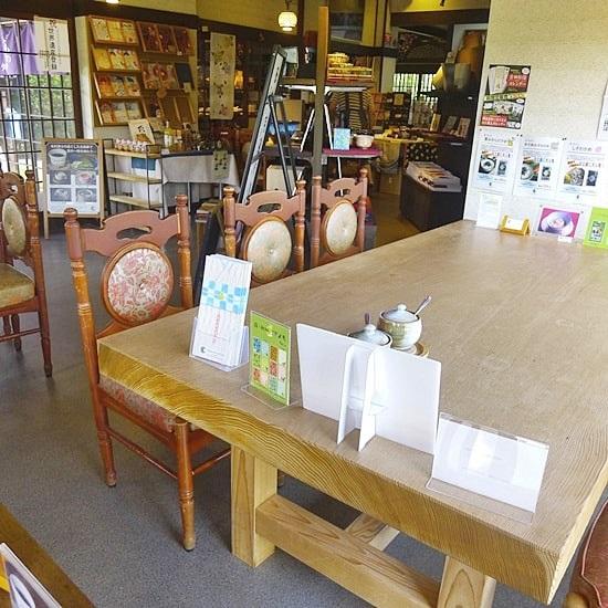 キモノスタイルカフェのテーブル