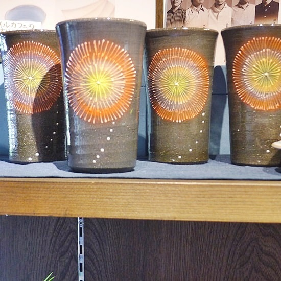 キモノスタイルカフェの陶器