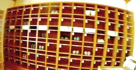 萩博物館の下駄箱