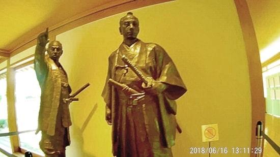 萩博物館の高杉晋作と久坂玄瑞