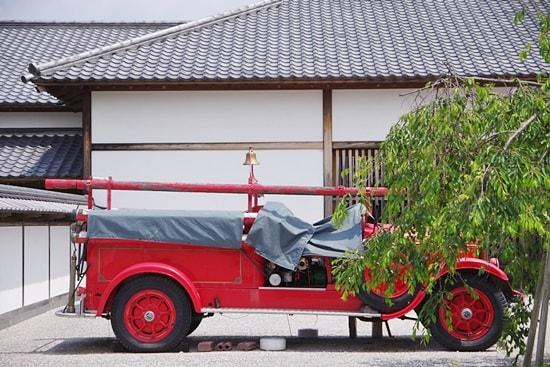 萩博物館の消防車