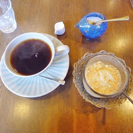 長屋門珈琲カフェ・ティカルのコーヒー