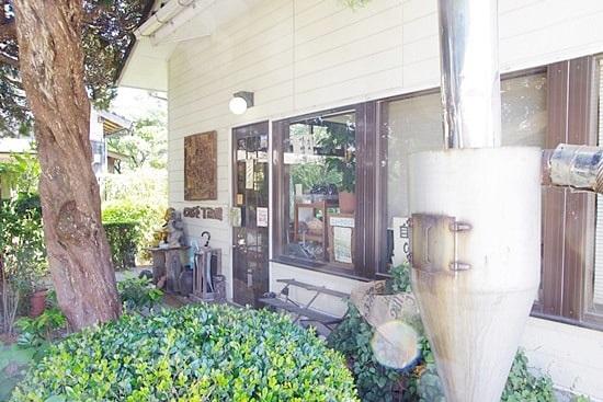 長屋門珈琲カフェの入り口
