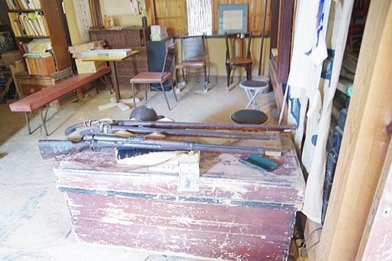 長屋門珈琲カフェの銃の資料