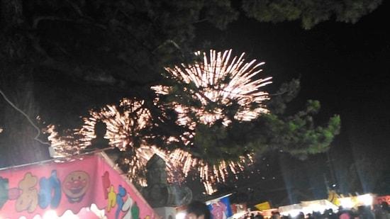 住吉神社例祭から見える花火