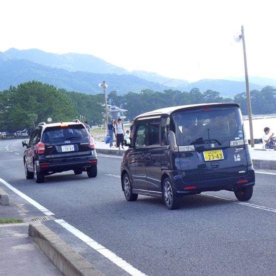 萩・日本海大花火大会の道路は通行止めとなる